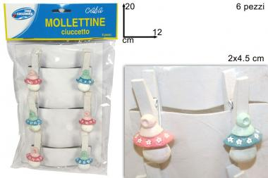 Mollettine ciuccetto 6pz