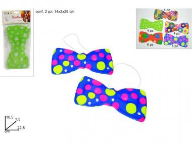 Papillon Clown plast. set 2 pz 5 colori