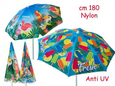 Ombrellone Nylon Diam. 180 Flamingo & Ice Cream