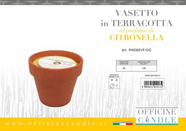 Vasetto di terracotta citronella 7*6