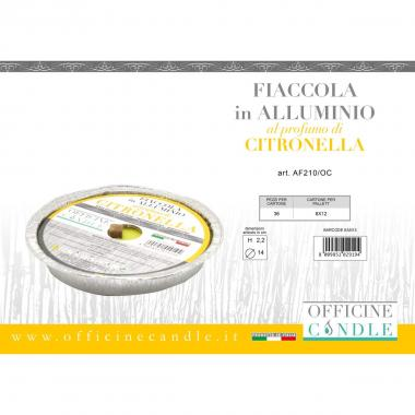 Fiaccola in alluminio medium citronella 14*2,2