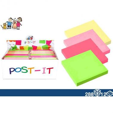 Post-it 76*76mm 4 colori 100PAG.