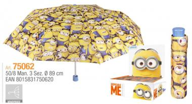 Ombrello Mini Manuale 50 cm Antivento Despicable Me