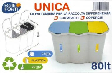 Pattumiera Unica 80Lt
