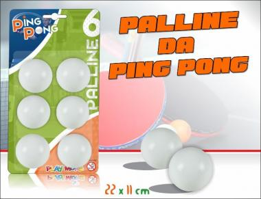 6 Palline Ping Pong