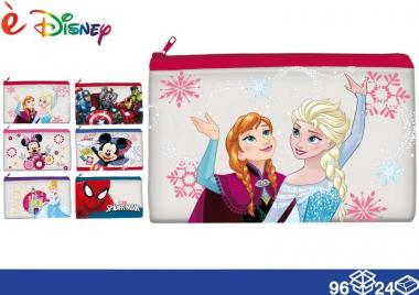 Disney Astuccio piat. pvc 23*14 96/24 assortito